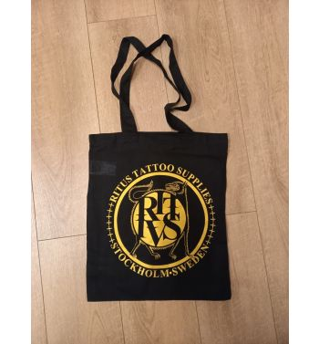RITUS DOG GOLD LOGO Tote bag. Black.