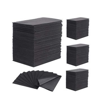 BLACK DENTAL BIBS; 500un.
