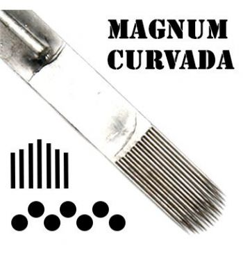 AKIRA Curved Magnum Needles; 0.35mm. (50 units).