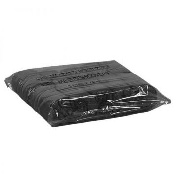 UNIGLOVES Disposable Black Bed Covers. Box of 100 Units!!