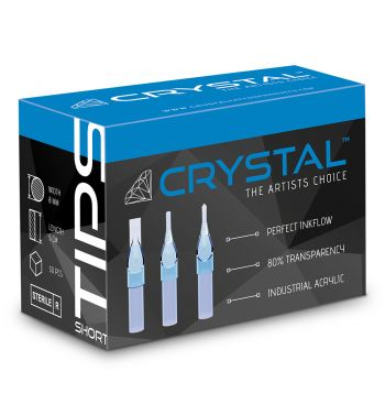 CRYSTAL Disposable Round Liner SHORT Tips; 50 Units.