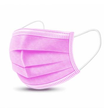 Pink 3 layer mask; 50 units.