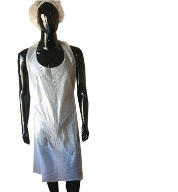 Disposable Apron; WHITE Color; 100 UNits.