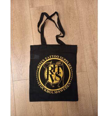 RITUS DOG GOLD LOGO Tote bag. Black.