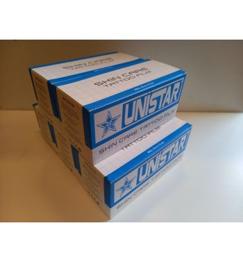 PACK of 5 UNISTAR Skin Care Tattoo Film.  15cm. x 10m.