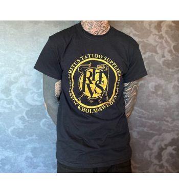 RITUS DOG GOLD LOGO T-Shirt. Black.