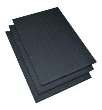 BLACK DENTAL BIBS; 125un.