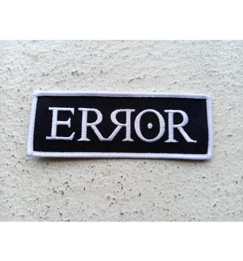 ERROR logo Embroidered patch; 3.5cm x 10cm.